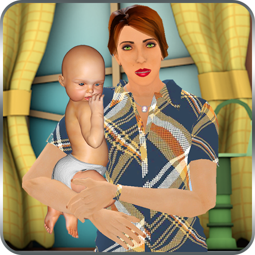 Virtual Single Mom New Baby Born Sim