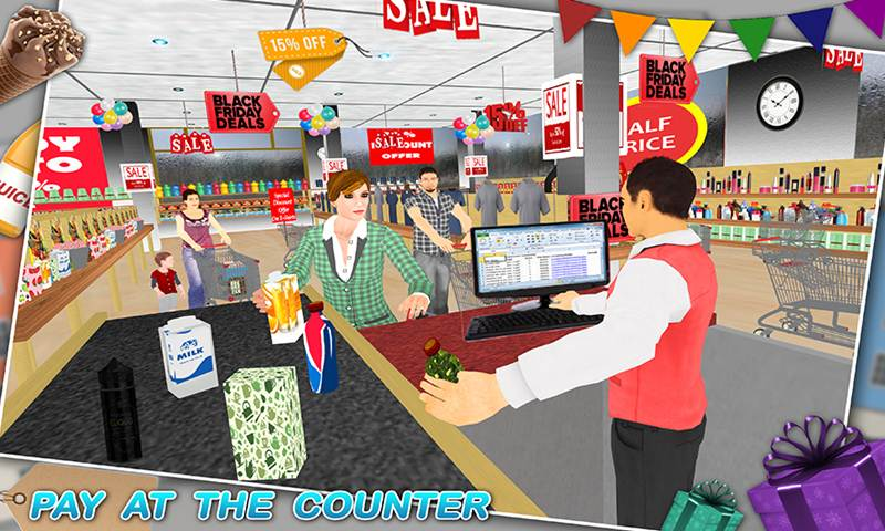 Virtual Supermarket Grocery Clerk Simulator