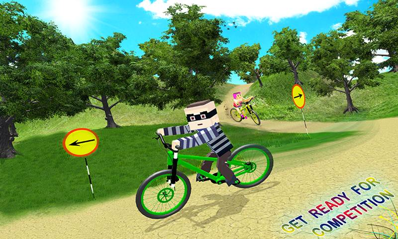 Blocky Kids BMX Cycle Racing Game