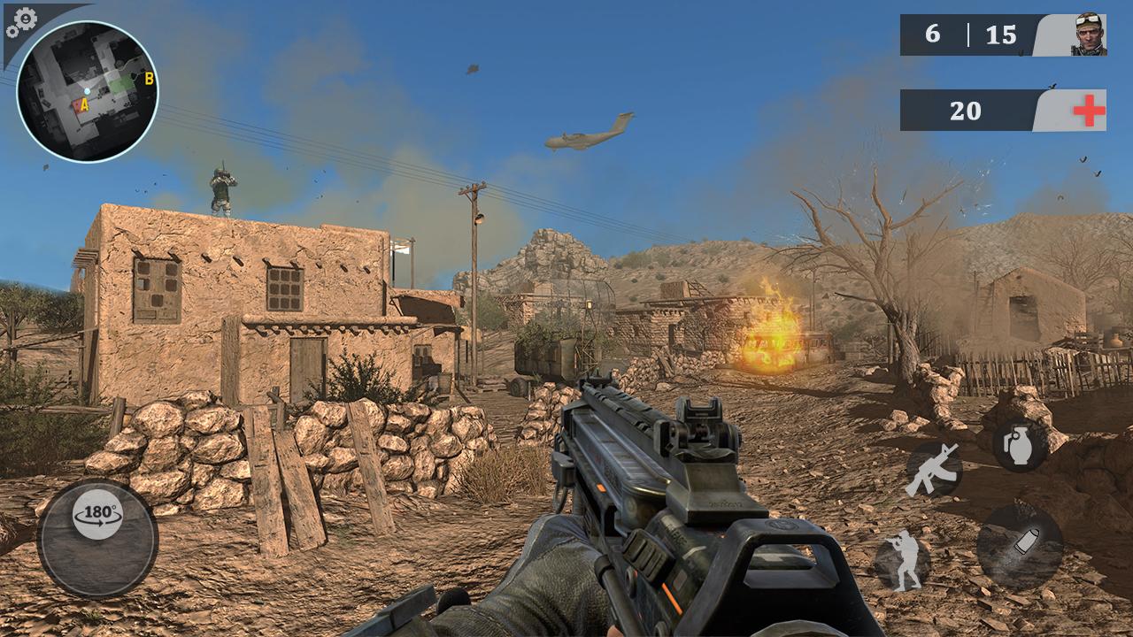 Commando Sniper Game: Cover Fire Gun Shooting 2018