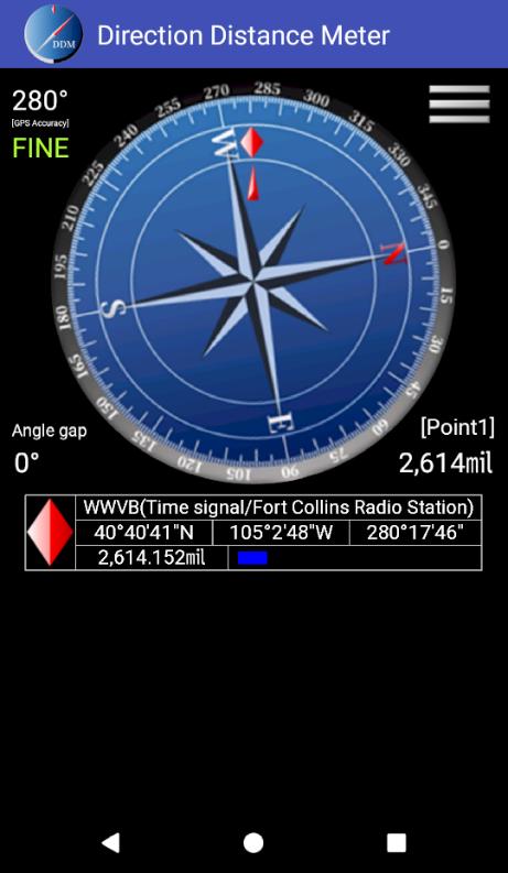 Direction Distance Meter