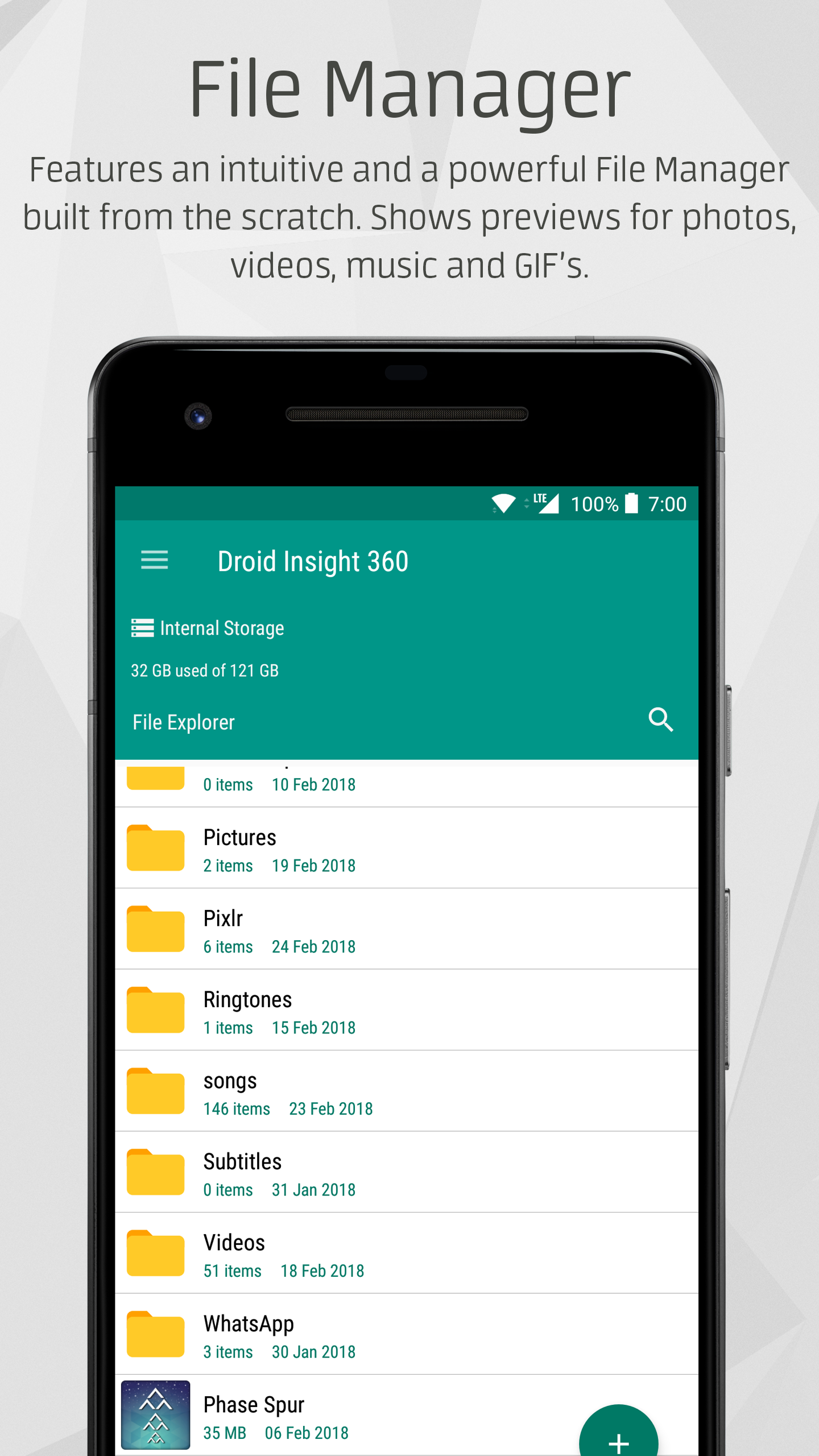 Droid Insight 360: Suite of five integrated Apps