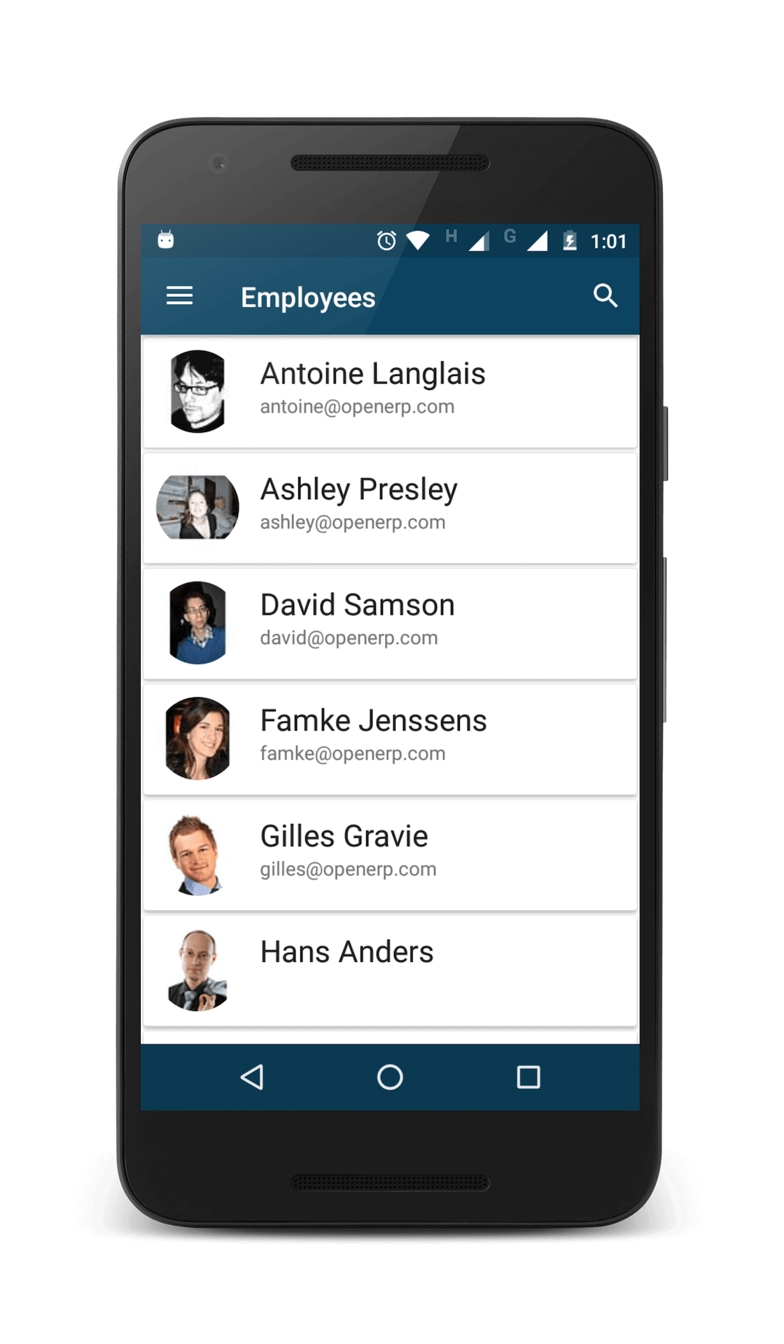 Human Resource and Project Management Android App