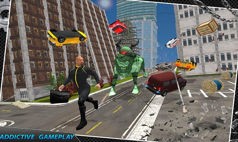 Multi Robot Bull Rampage Vs Futuristic Gangsters