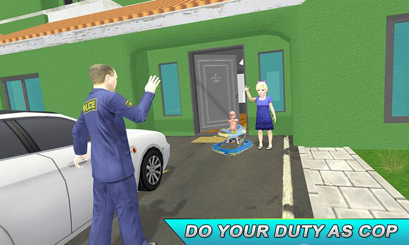 Virtual Single Police Dad: Happy Family