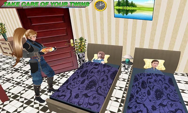 Virtual Twin Babysitter Life Simulator