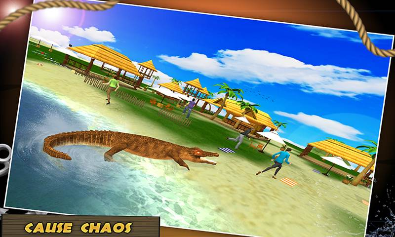Wild Crocodile Beach Attack Simulator