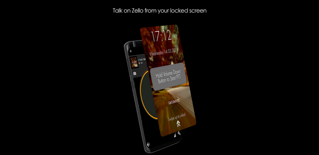 Zello from Lock Screen