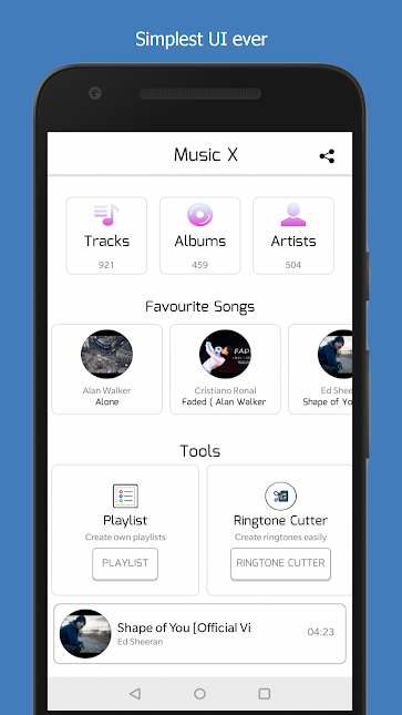 MusicX - Music Player