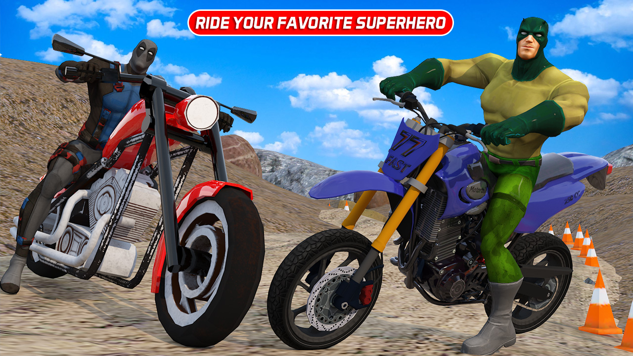 Offroad Superhero Bike Racing Adventure