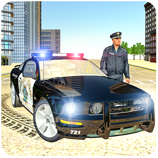 Police Car Drift Driving