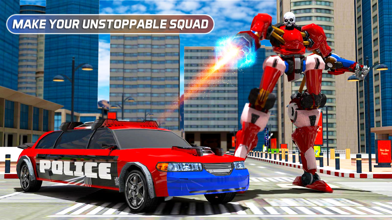 Police Car Robot Transform - Robot Warrior