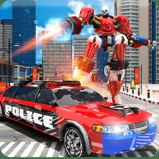 Police Car Robot Transform - Robot Warrior