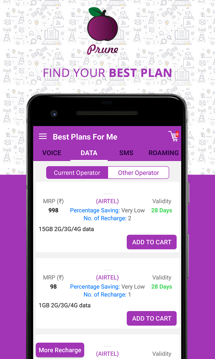 Prune – Find Best Mobile Recharge and Devices