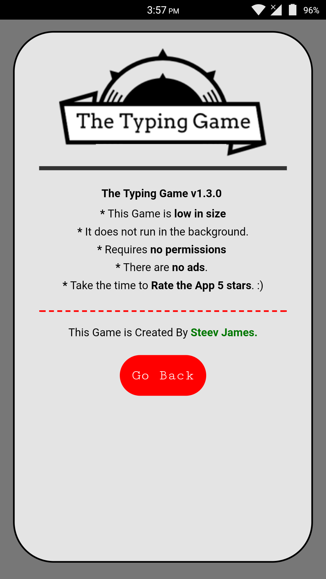 The Typing Game