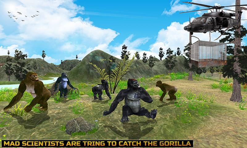 Big Foot Gorilla Giant City Smasher Rampage Game