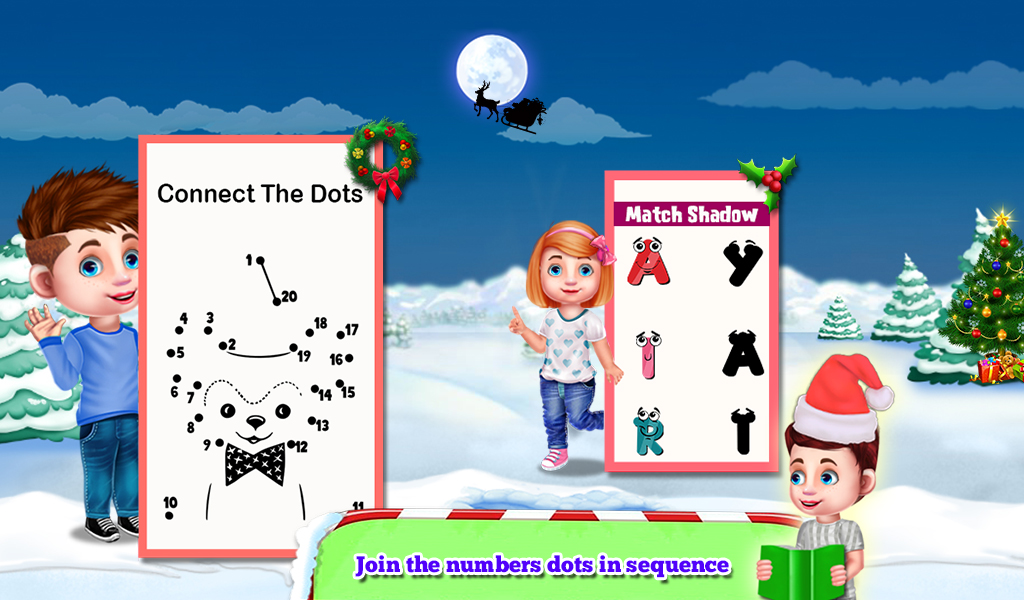 Connect The Dots: Christmas Educational Kids Game