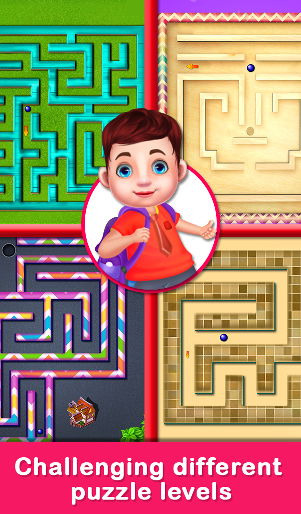 Educational Virtual Maze Puzzle for Kids