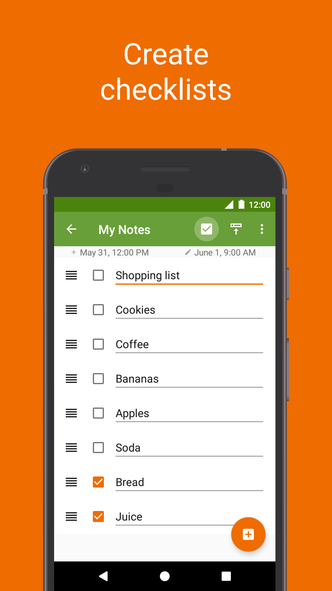 Jot - Floating notes in notification