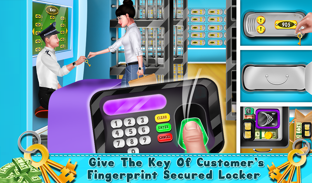 My Virtual Bank ATM Machine & Cashier Kids Game