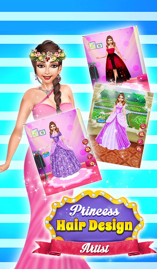 Princess Hair Saloon Design - Rich Girls Spa Salon