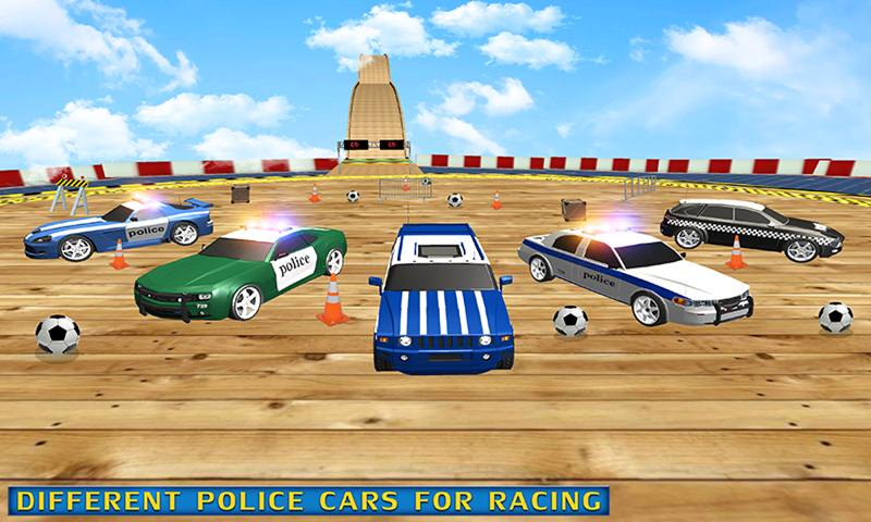 US Police Car Stunt Mega Ramp Racing