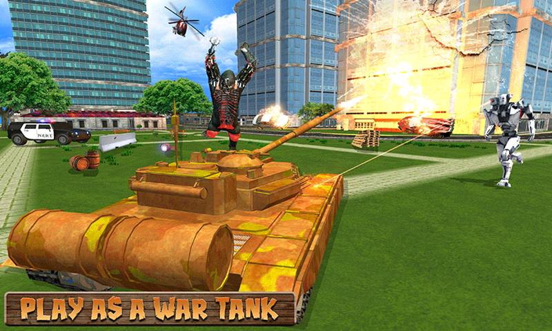 Wild Tiger Robot Transform Tank: Gorilla War