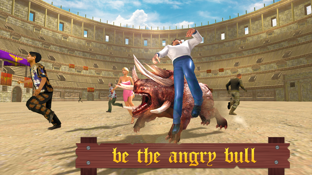 Angry Bull Arena Attack