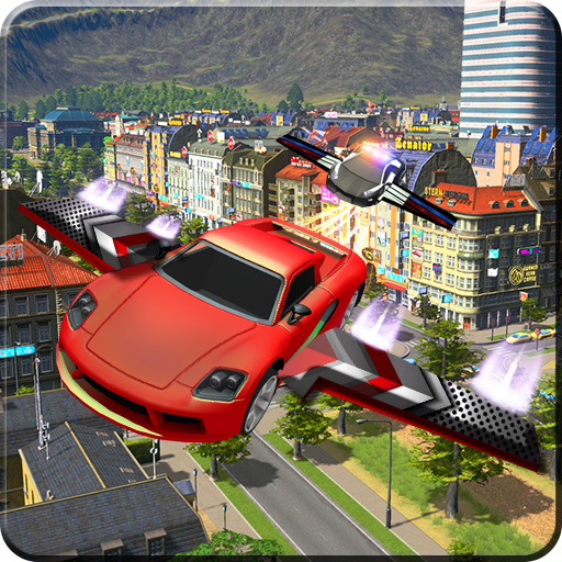 Futuristic Flying Car: 3D Driving Simulator