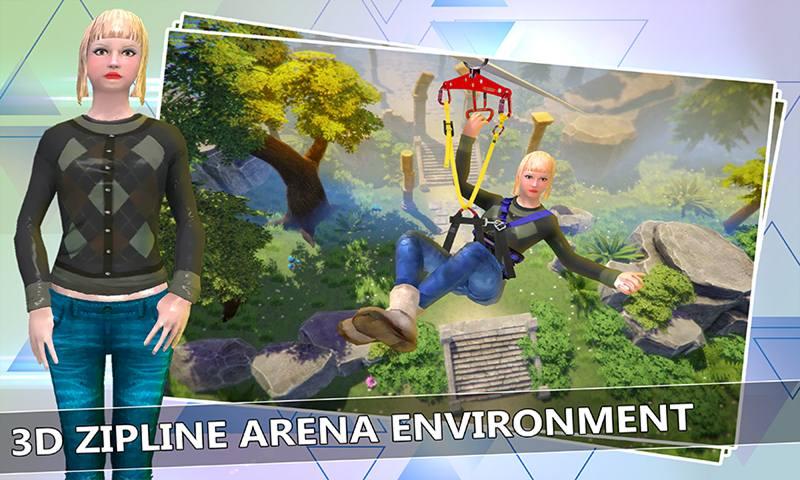 Mega Zipline 3D Skyline Adventure Simulator