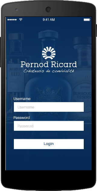 Merchandise Tracking App - PERNOD RICARD