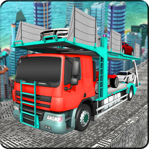 Multi Car Transporter Truck: Vertical Ramp Sim