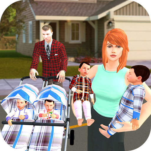 New Born Baby Quadruplets: Mother Sim