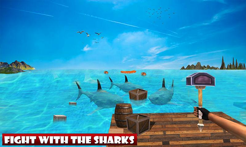 Raft Ocean Craft Survival: Shark Attack