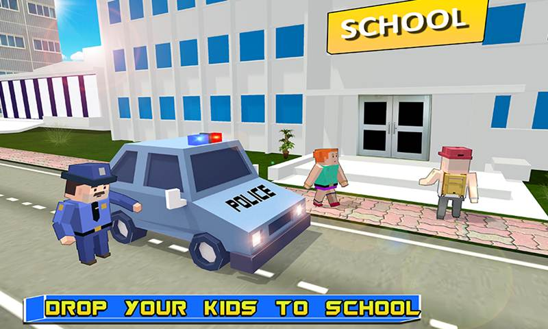 Virtual Father: Blocky Police Duty