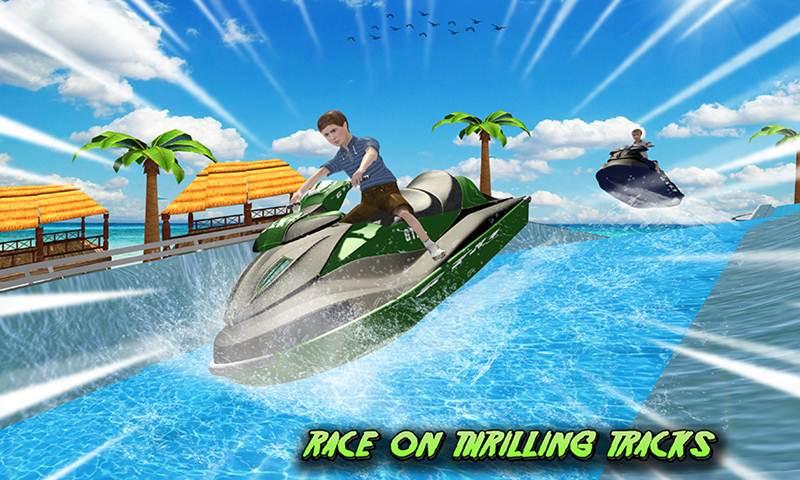 Water Slide Jet Ski Park Racer