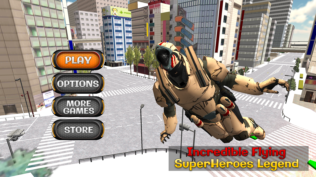 Incredible Flying Super Heroes Legend: City Rescue