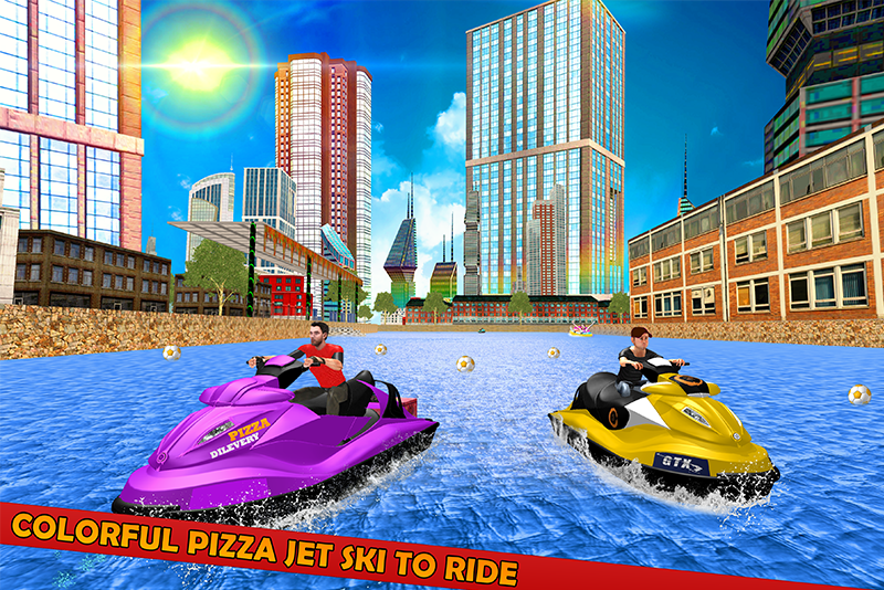 Pizza Delivery Jet Ski Fun