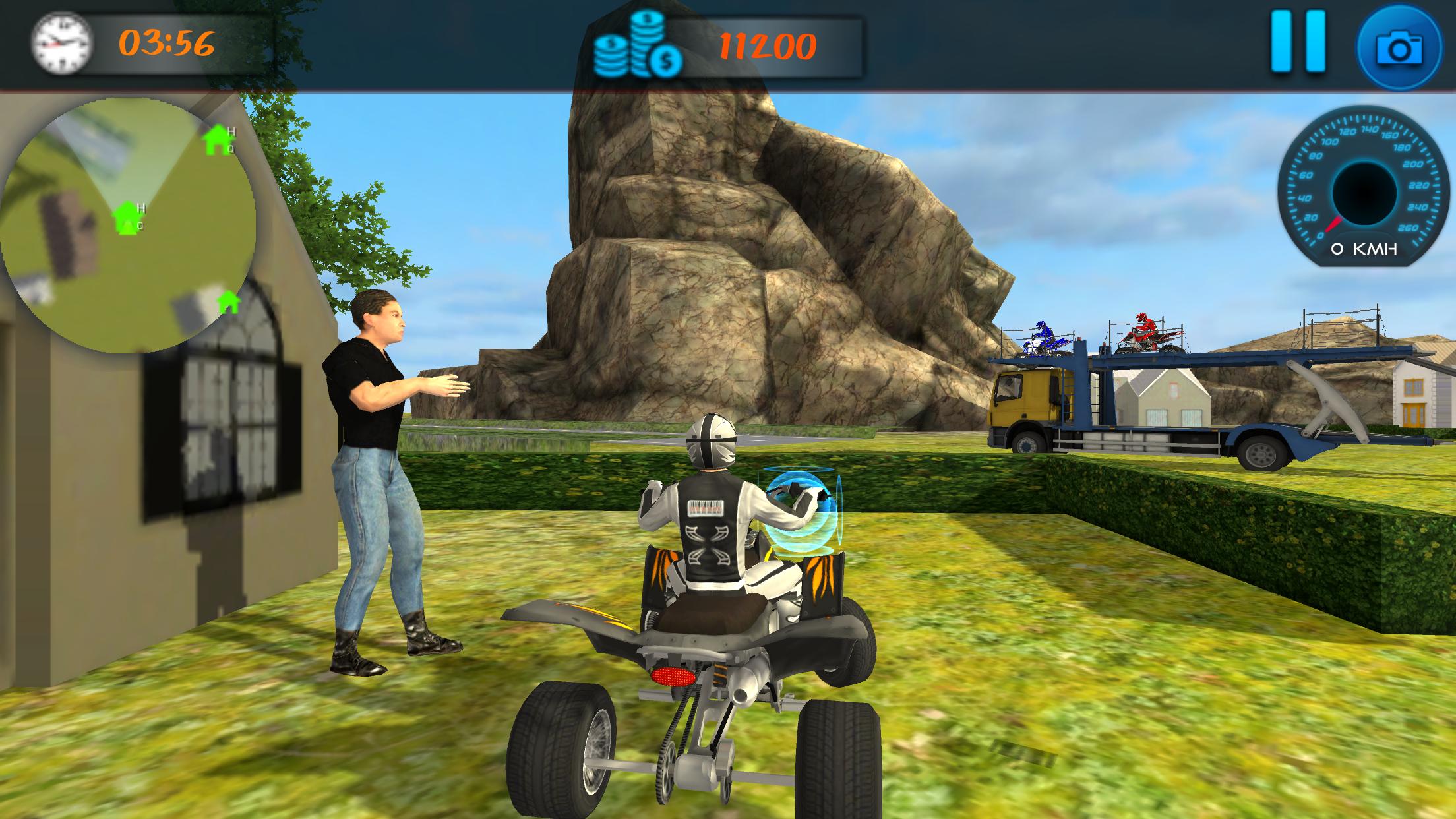 ATV Bike Transport Truck 3D
