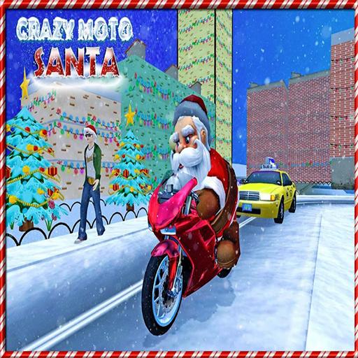 Crazy Santa Moto Gift Delivery