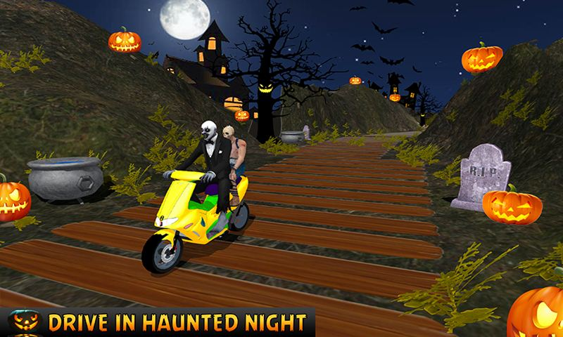 Halloween Party Bike Driver