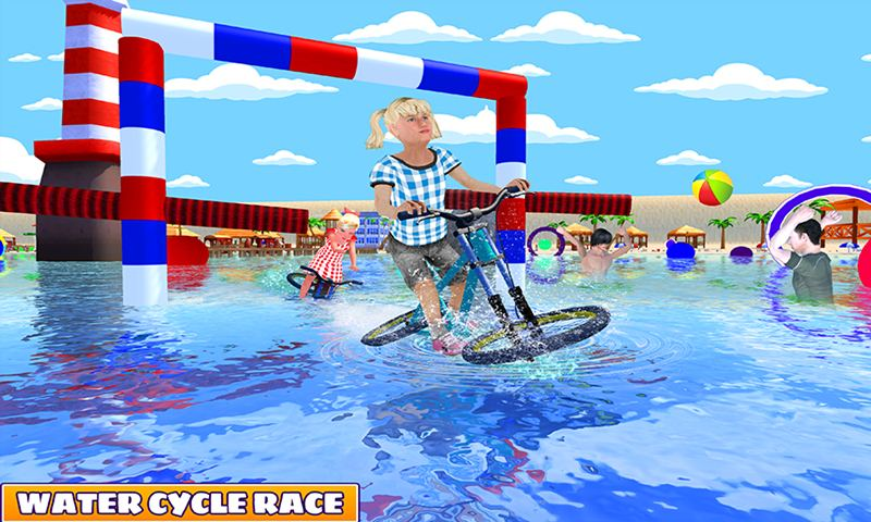 Kids Water Bicycle Surfing