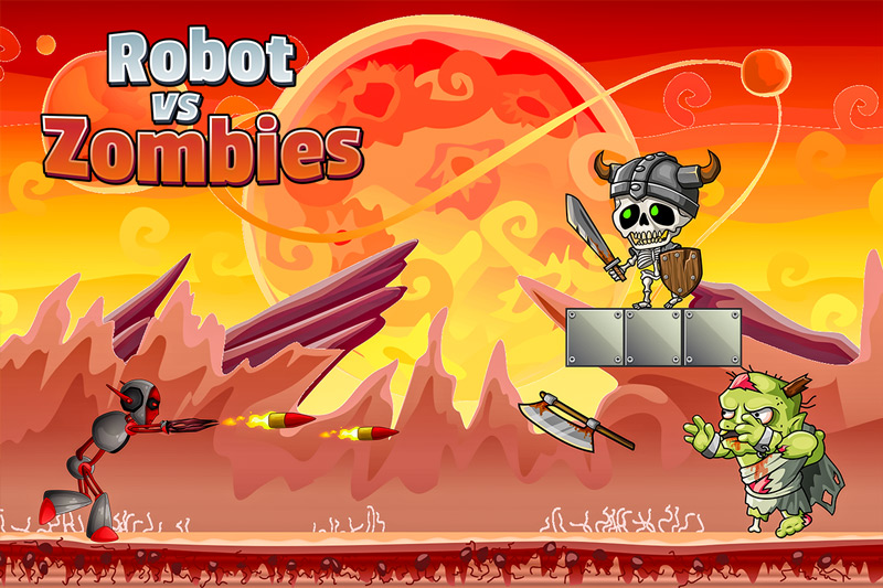 Robot Vs Zombies War