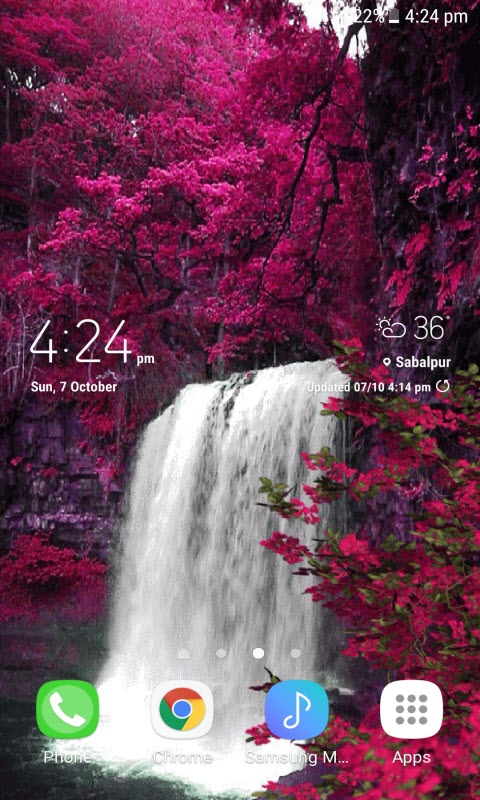 Spring Waterfall Live Wallpaper
