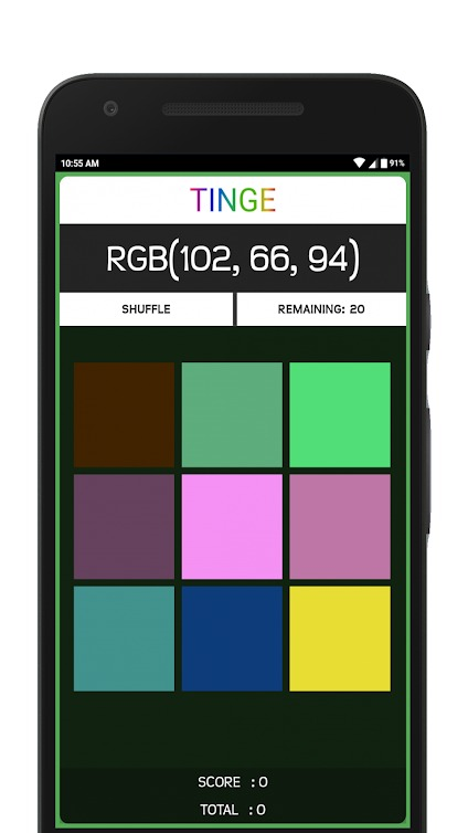 TINGE: A Color Game