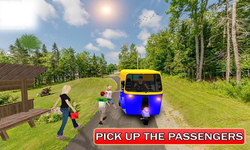 Tourist Tuk Tuk Auto Rickshaw: Rickshaw Driving