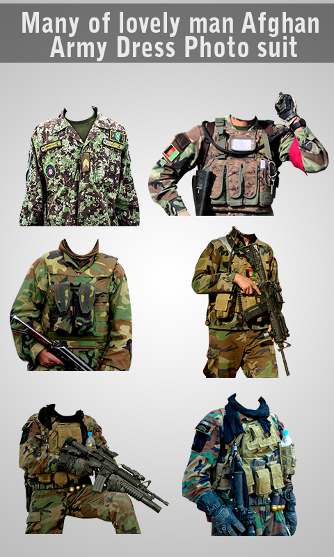 Afghan Army Suit Editor - Uniform changer 2017