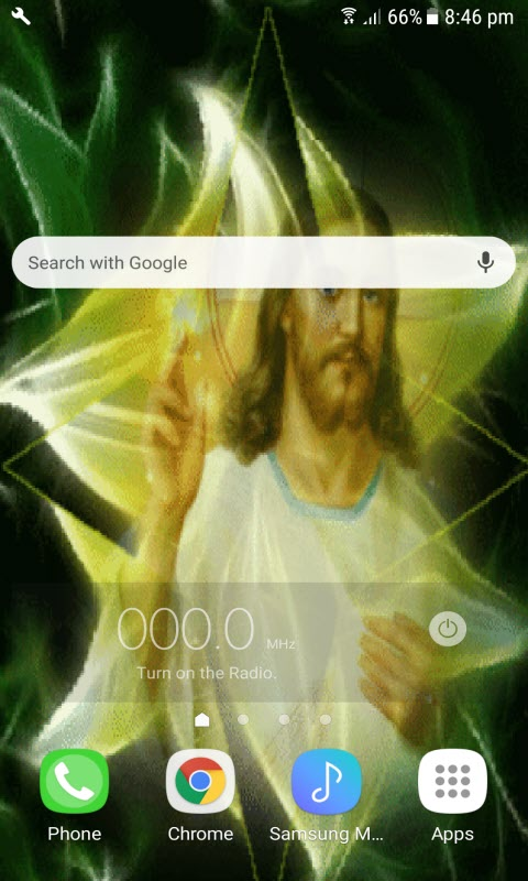 Jesus Flower Live Wallpaper