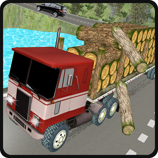 Off-Road Wood Truck Cargo Transport: Euro Tour