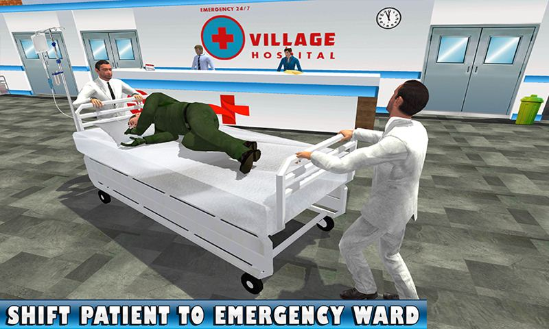 Cart Ambulance Village Hospital